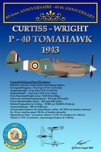 Card 60th 430 ETAH - P-40 Tomahawk