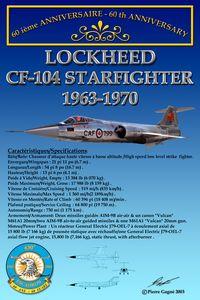 Card 60th 430 ETAH - CF-104 Starfigh