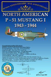 Card 60th 430 ETAH - P-51 Mustang
