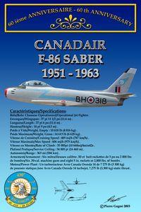Card 60th 430 ETAH - F-86 Saber