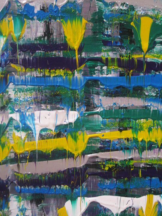 rain of  paint - Peter Abstract Modern Art