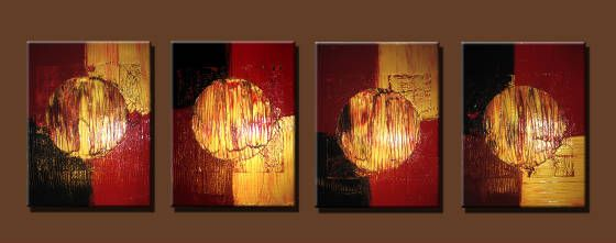 Gold,Red,Black,Burgandy - Peter Abstract Modern Art