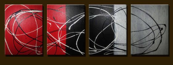 Red Black White - Peter Abstract Modern Art