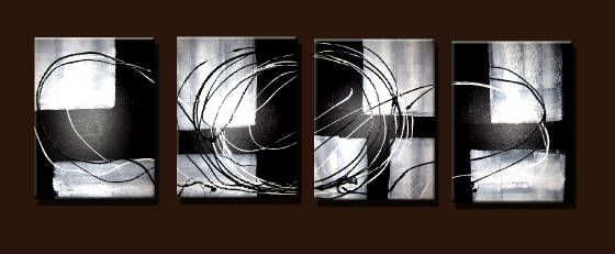 Black & White Abstract 1 - Peter Abstract Modern Art