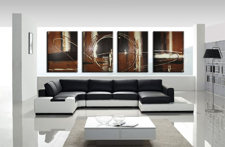 Shades of browns - Peter Abstract Modern Art