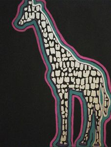 'Giraffe In Colors'