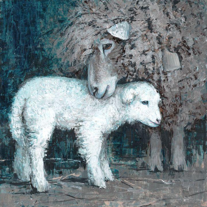two cute lambs -  Ferrum.artist.ka