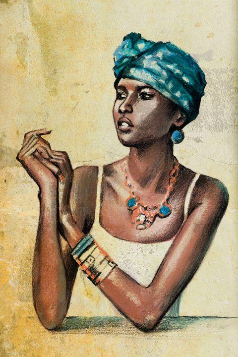African American girl -  Ferrum.artist.ka