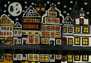 The Graslei by Moonlight