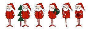 Collection of Cute Christmas Santa C