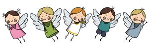 Cute Baby Angels with Wings Set, Ado