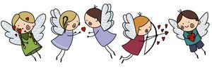 Cute Baby Angels with Wings Set, Ado - Al_Nik