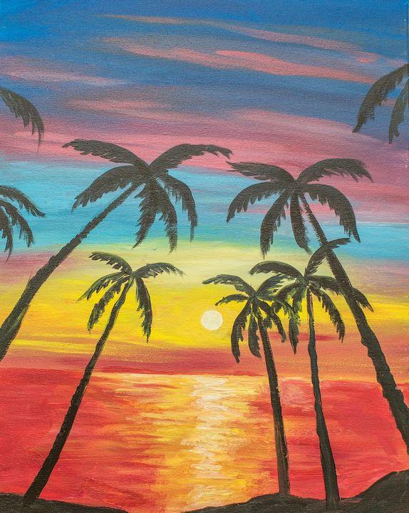 Malibu Sunset - A Splash of Color