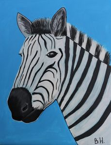 Zebra - A Splash of Color