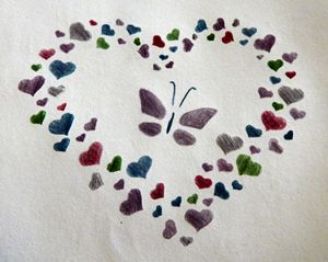 Butterfly and Hearts - Rachel's Photos & Drawings