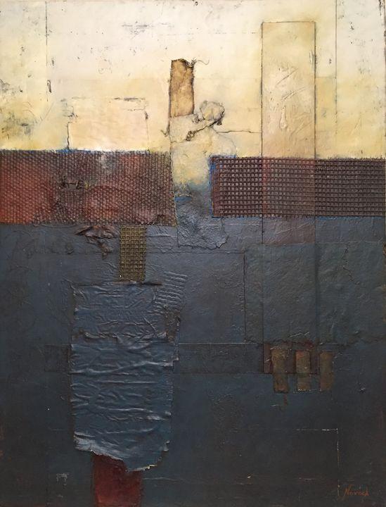 Abstract Volleyball - Nathan Novack Art