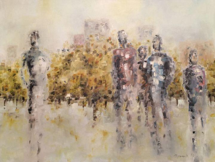 Park Gathering - Nathan Novack Art