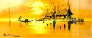 Sunset on Mekong River