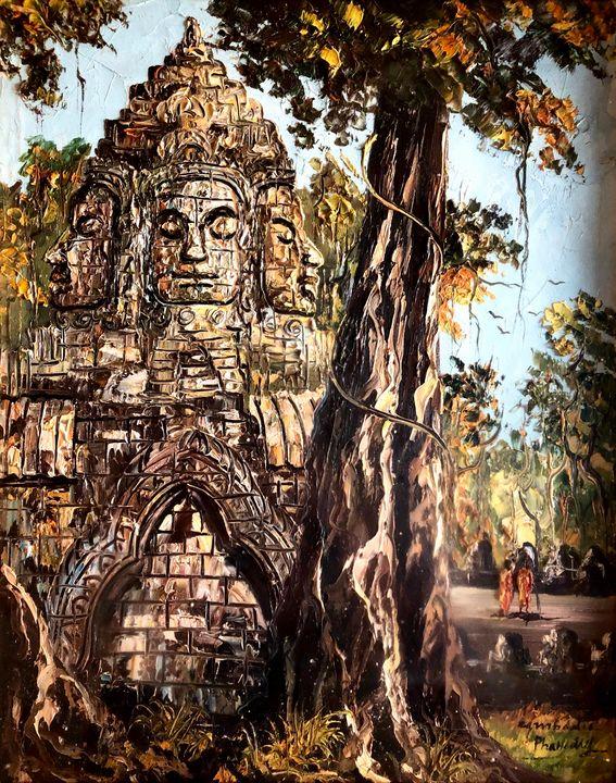 Angkorwat Bayon Temple - Ouyang Painting