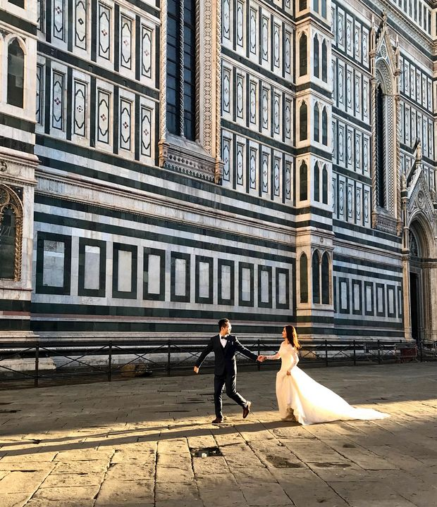 Bride and Groom in Florence - Photography by Lourdestm