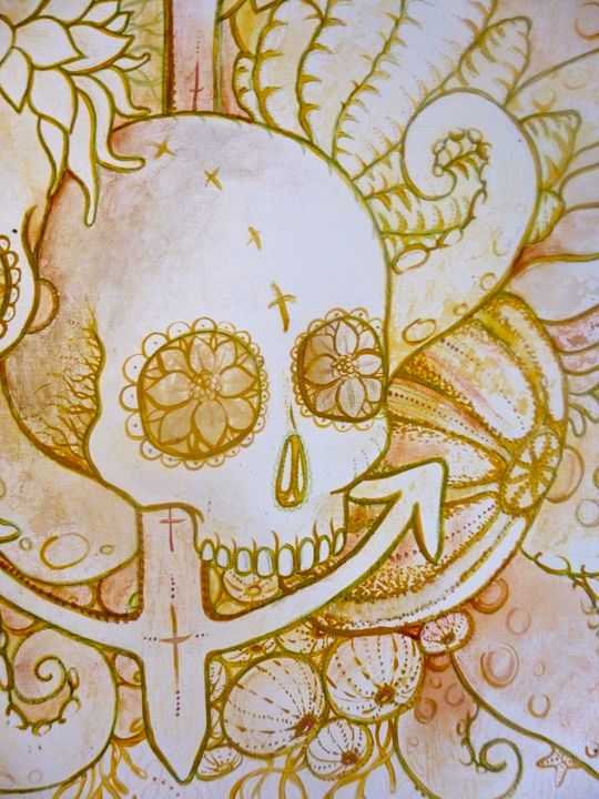 skull anchor sugar skull tattoo art - busyspider