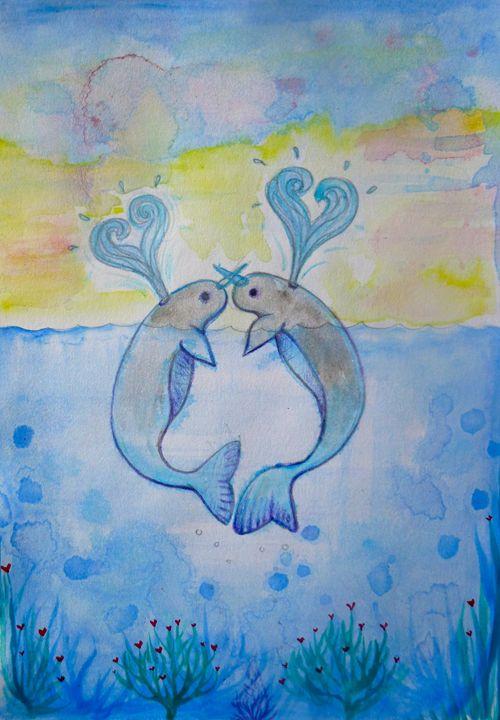 cute valentines animal love - busyspider