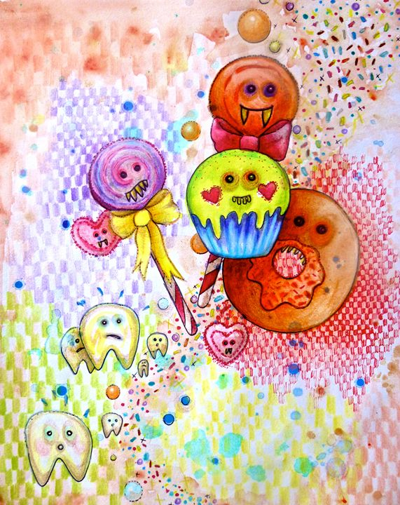 fun food sweet tooth candy art - busyspider