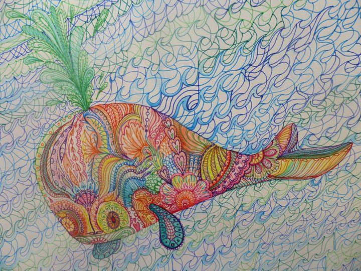 free whale sea romance art - busyspider