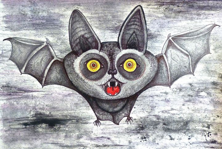 bat halloween cute cartoon art - busyspider