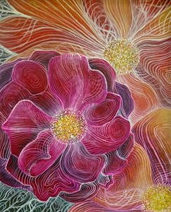 beautiful rose flower abstract art