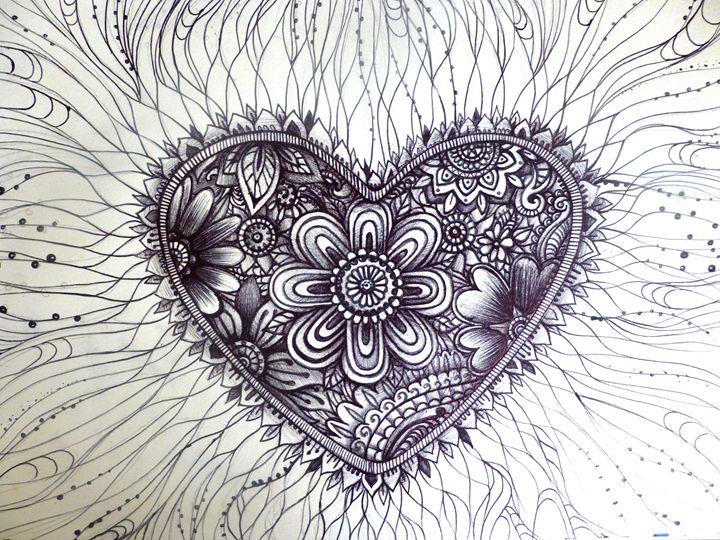 henna tattoo heart pattern art - busyspider