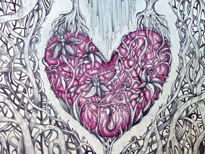 twisted heart tree fine art - busyspider