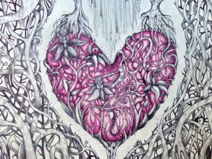 twisted heart tree fine art