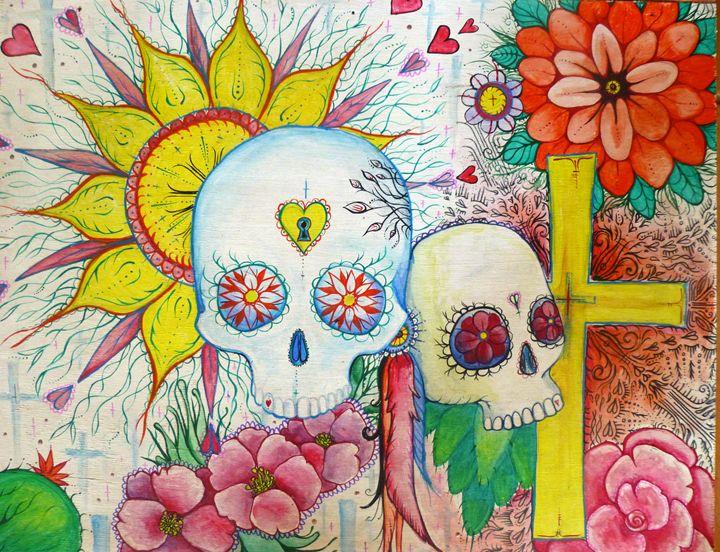 Mexican sugar skull tattoo art - busyspider