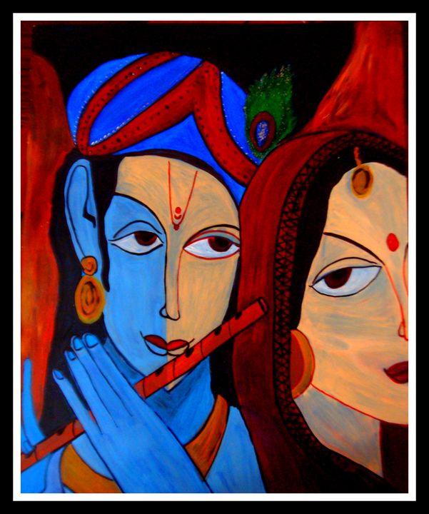 Radha Krishan Painting - Priyanka