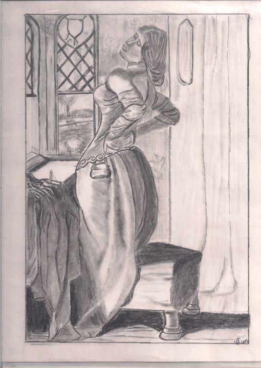 lady in waitng - easy draw