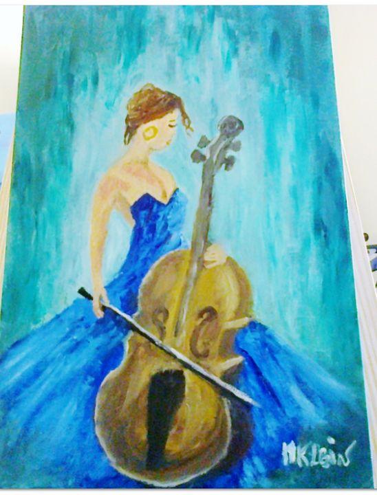 La violoncelliste - MichelePeinture