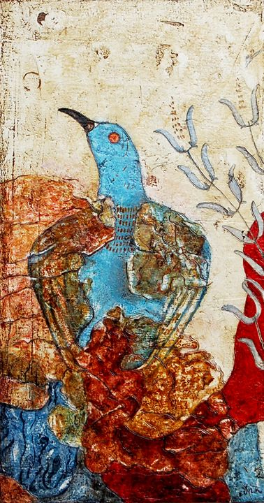 Blue bird (Knossos palace) - myfolkartpaintings