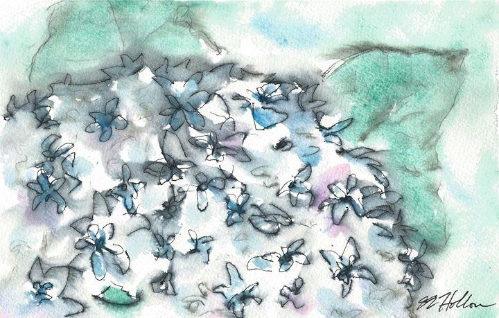 Blue Hydrangea - Erin Hollon Fine Art and Illustration