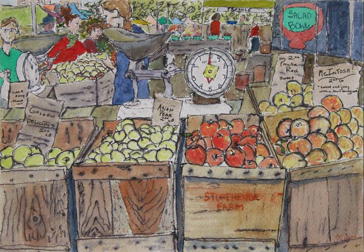 Union Square Farmer's Market - Erin Hollon Fine Art and Illustration