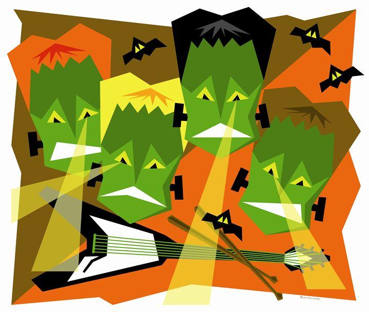 The Monster Mob - John Paul DeHaas Art In Action