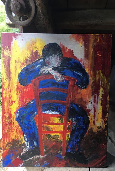 Homme assis - Emmanuelle