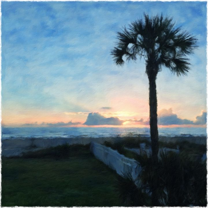St. Augustine Sunrise with Palm Tree - Beaglesong