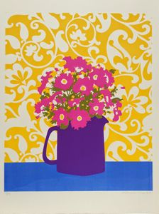 Flowers in Purple Pitcher