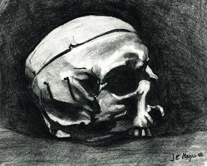 Study of Skull - J E Magno Art