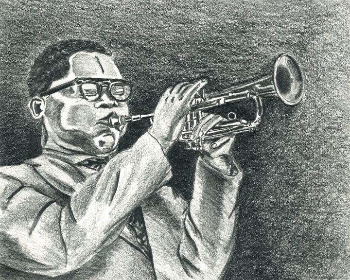 Study of Dizzy Gillespie - J E Magno Art
