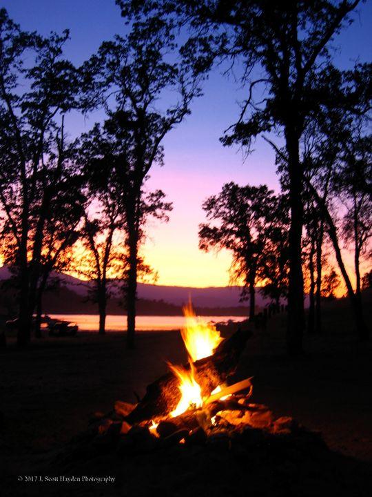 Campfire Sunset - J. Scott Hayden