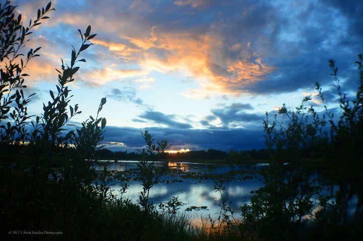 Sunset Richardson Highway - J. Scott Hayden