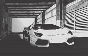 Lamborghini Aventador- Charcoal edit - EDG Art