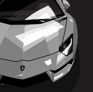 Lamborghini Aventador digital